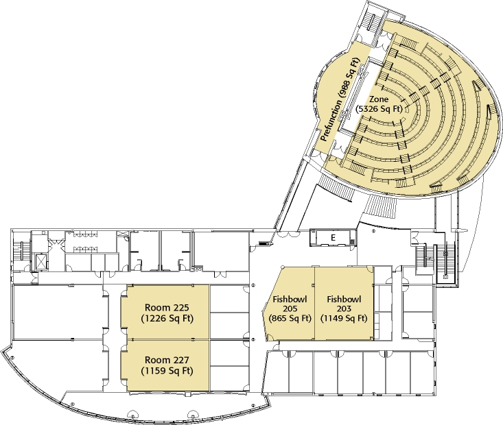 FedEx Institute of Technology Second Floor Layout