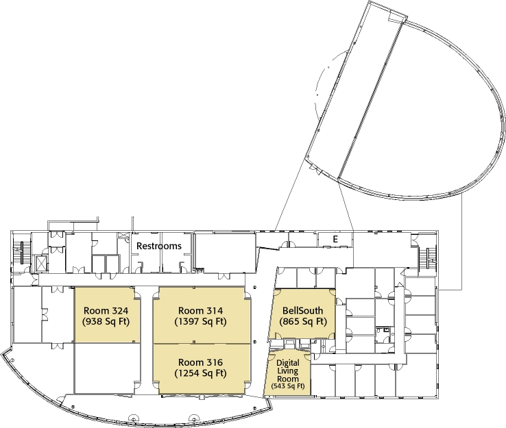 FedEx Institute of Technology Third Floor Layout