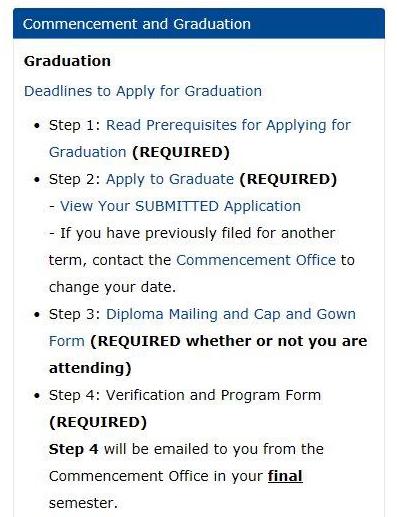 graduation steps