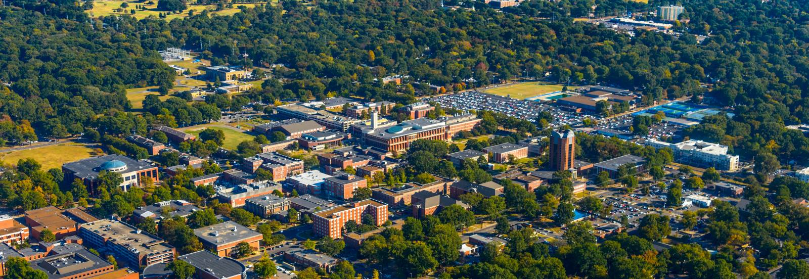 Aerial view of the University of Memphis