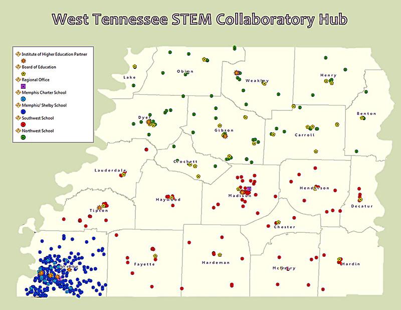 STEM Hub Map