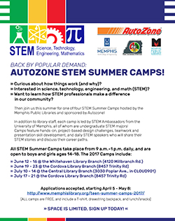 Autozone STEM Summer Camps