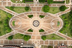 UofM campus aerial photo