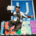 A UofM graduate kicking up his heels