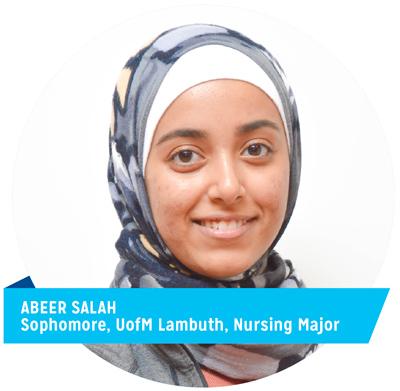 Abeer Salah, Sophomore, UofM Lambuth, Nursing Major