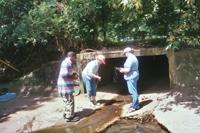 Water sampling on Black Bayou