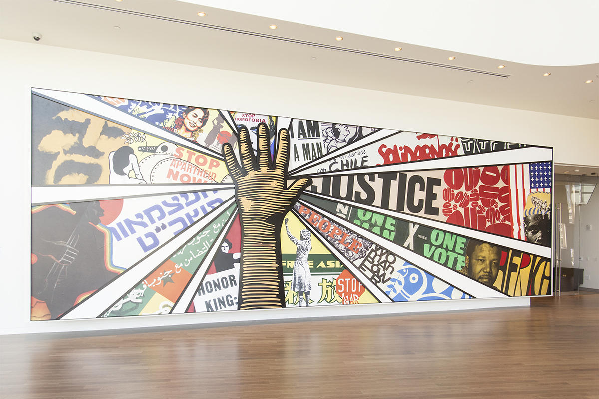 Mural at National Civil Rights Museum
