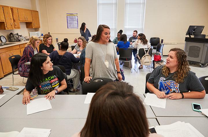 Eureka Math students interacting
