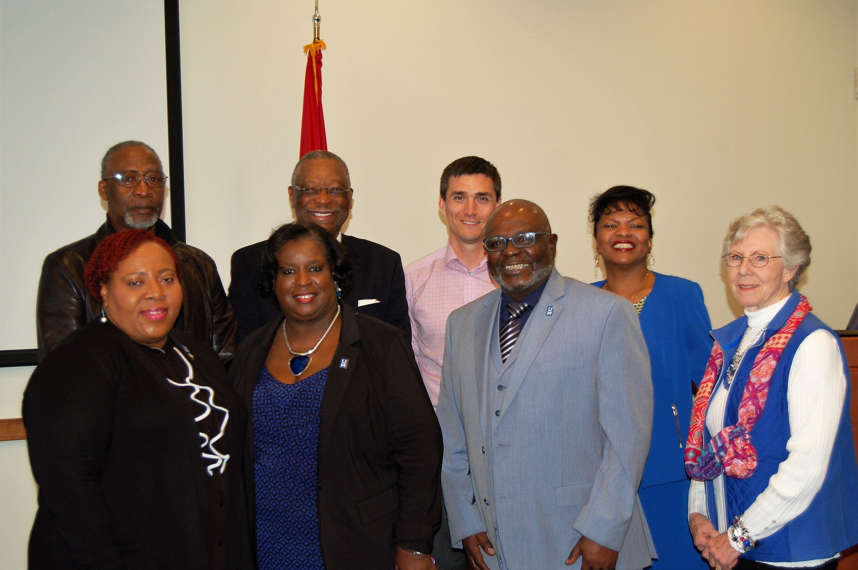 Dr. Green and past recipients.