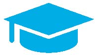 Graduation mortarboard icon