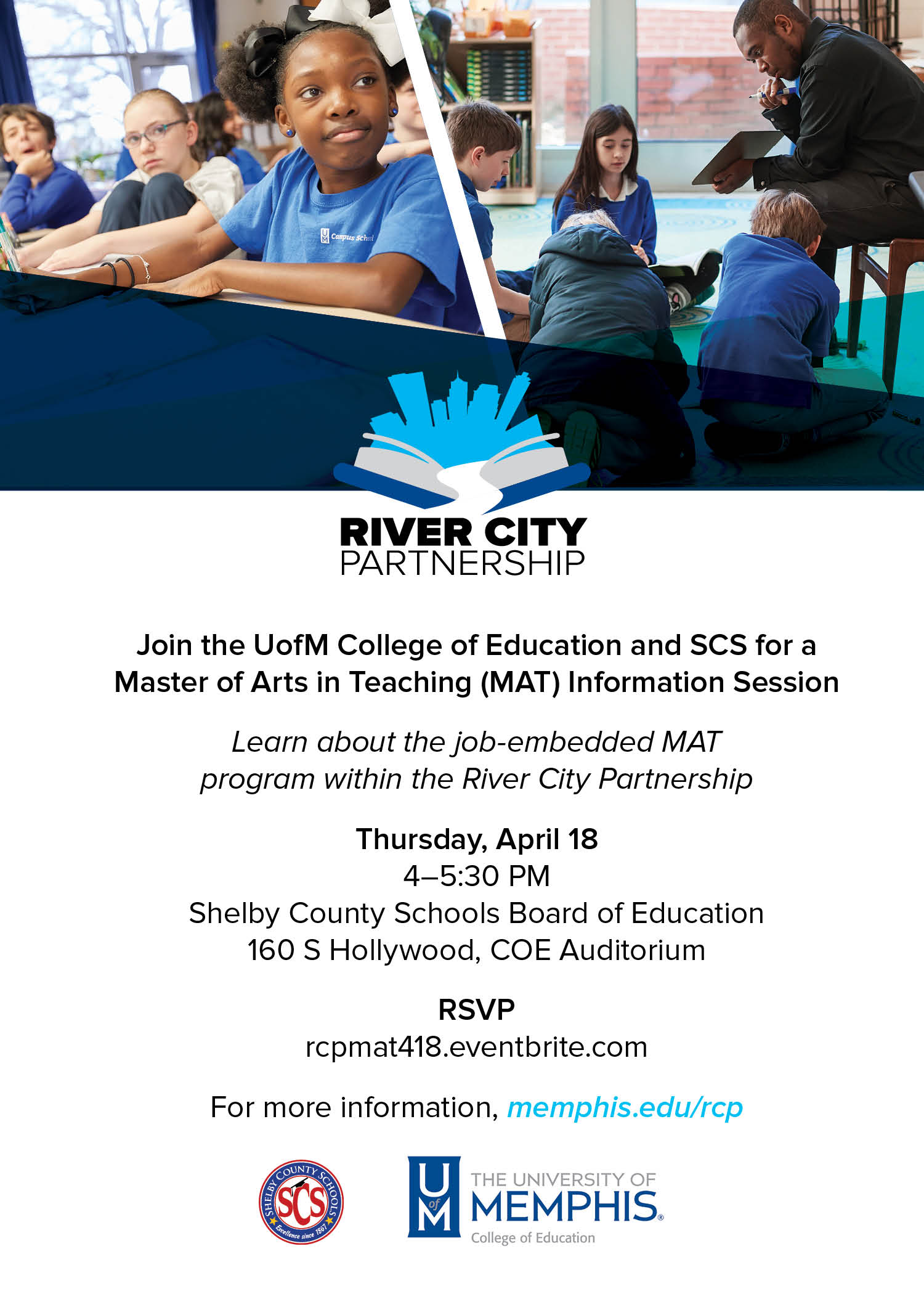 RCP MAT Information Session flyer