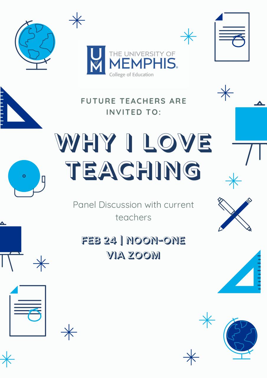 Future Teachers invitation Feb 24 noon-one via Zoom