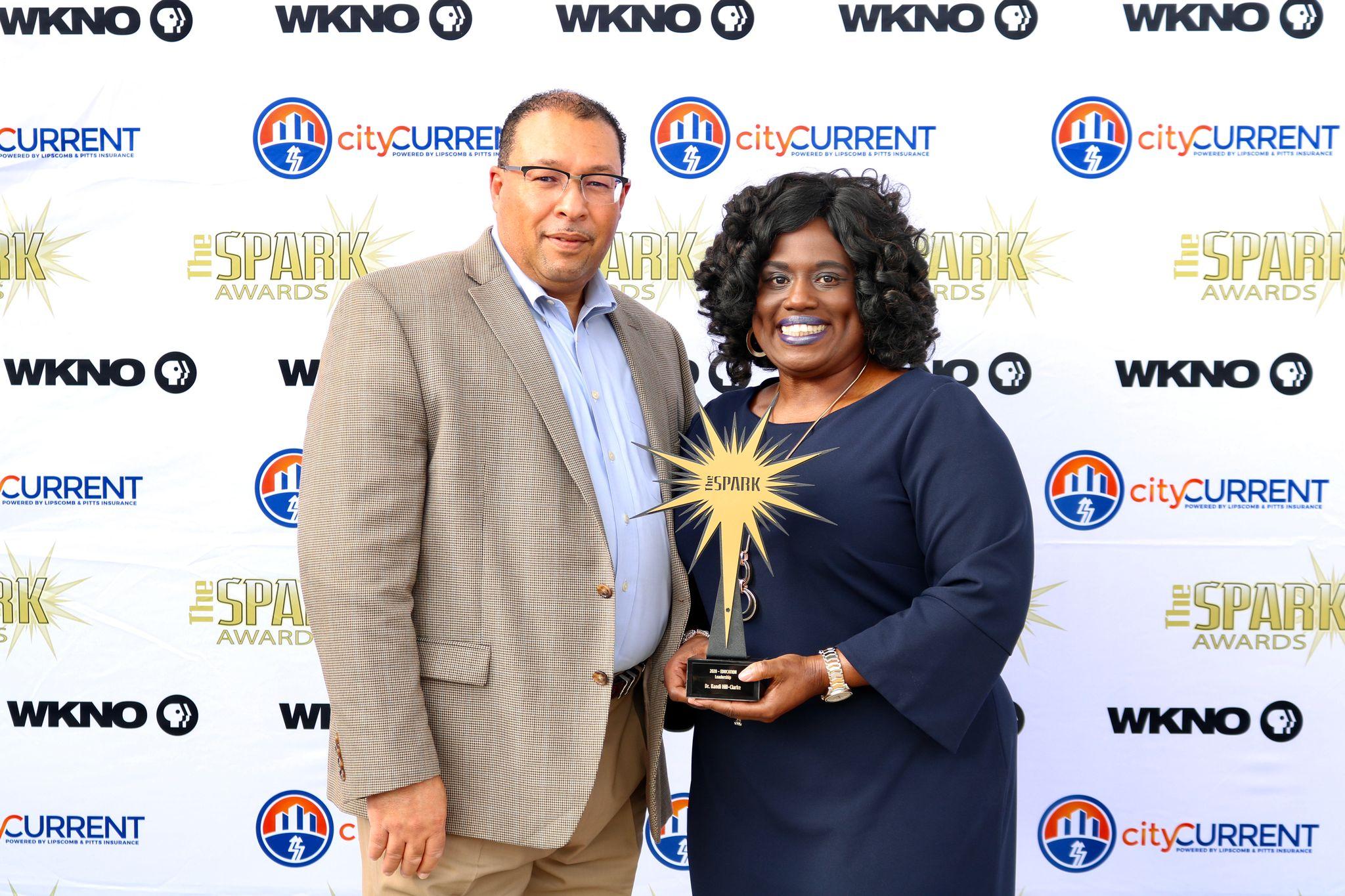 Dean Hill-Clarke and Spark award