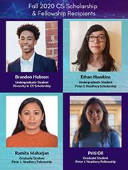 Congratulations to the Fall 2020 CS Scholarship & Fellowship Recipients