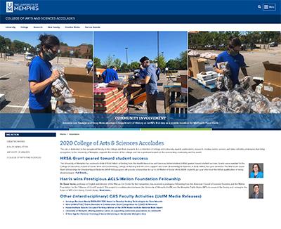 2020 College of Arts & Sciences Accolades