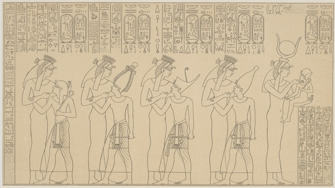 Suckling Scene of Ramesses II from the Temple of Seti I at Abydos