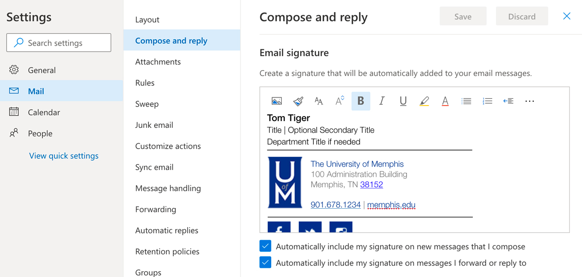 """select """"compose and reply"""" then paste signature in open text box"""