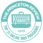 The Princeton Review:  Top 25 Online MBA Programs logo