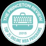 The Princeton Review:  Top 25 Online MBA Programs logo