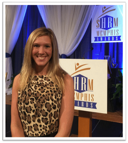 Shelby Yardley, Fogelman College Student, awarded the SHRM Student HR Excellence Award.