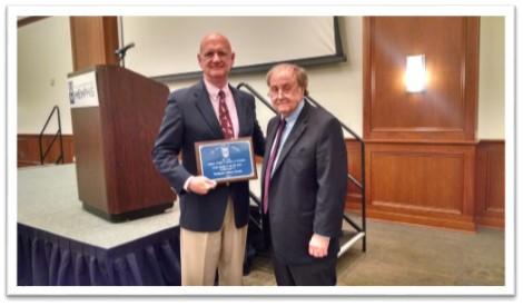 Jeff Nevels (left) and professor Irvin Tankersley