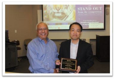 Dean Rajiv Grover with Dr. Joseph Zhang