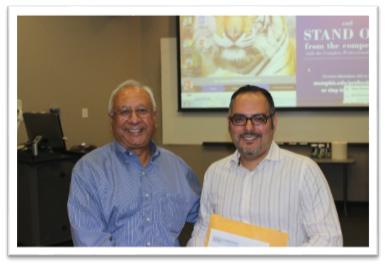 Dean Rajiv Grover with Mr. Christian Calderon