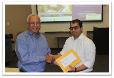 Dean Rajiv Grover with Mr. Vivek Sharma
