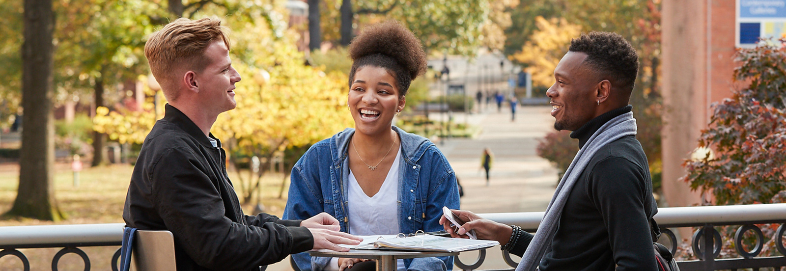 Students on campus enjoying conversion