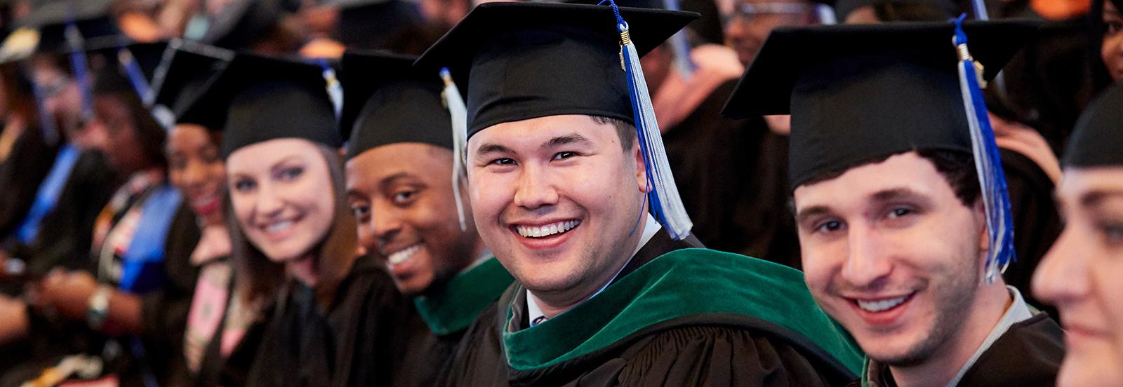 Cap & Gown Students Graduating