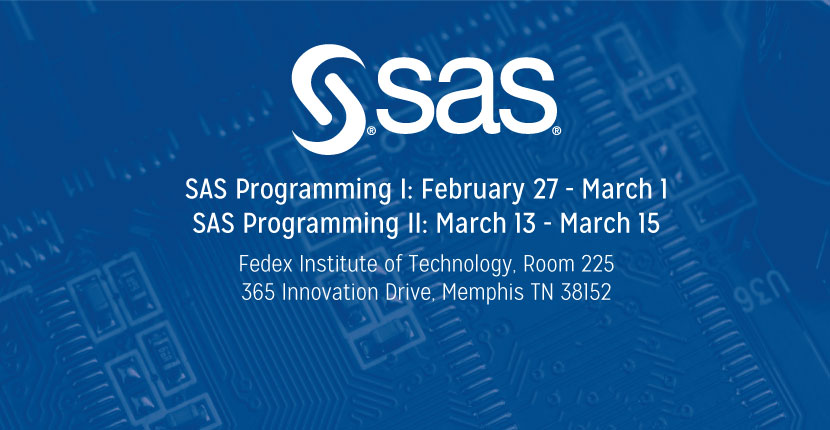 SAS logo with training dates