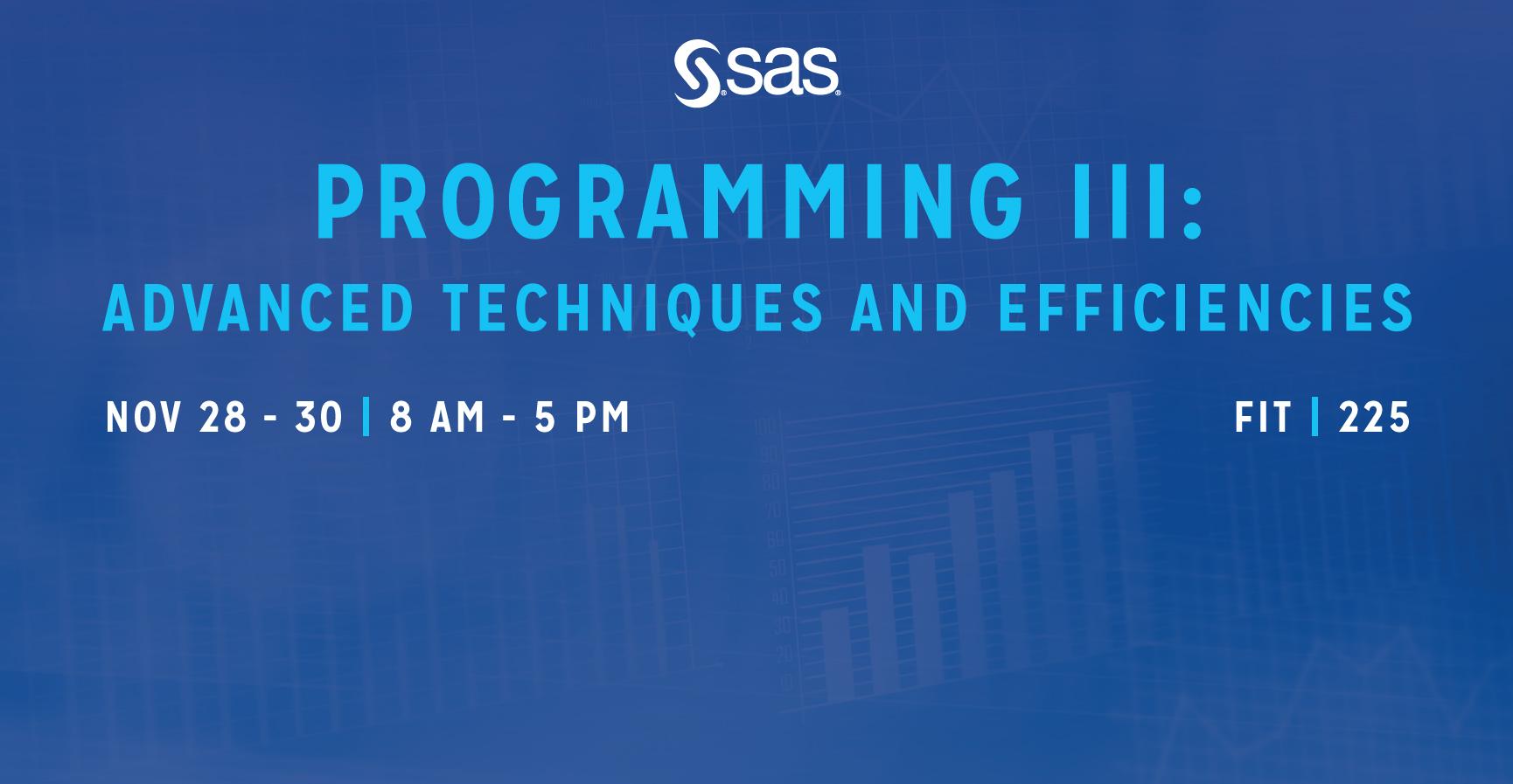 SAS Programming III