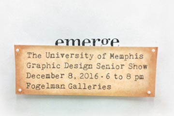 Emerge: GRAPHIC DESIGN SENIOR SHOW