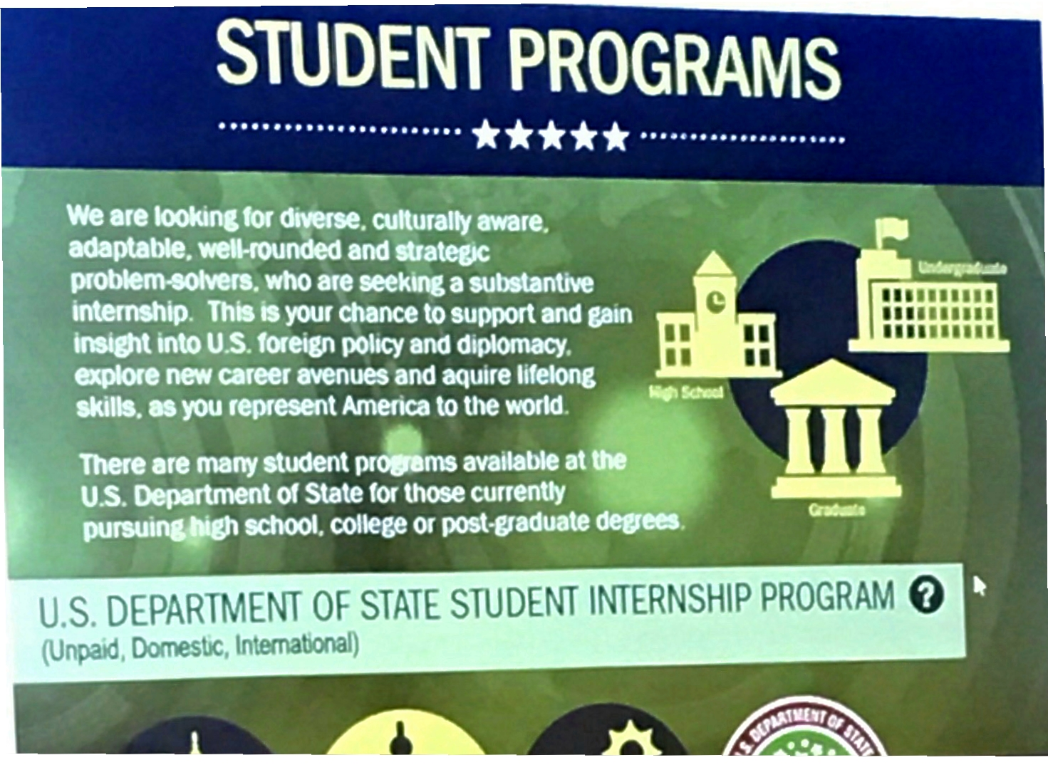 Dept of State Opportunities