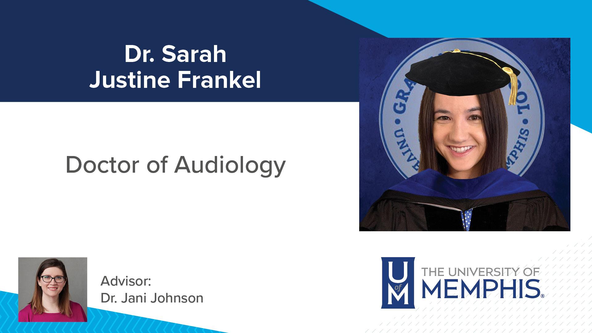 Dr. Sarah Justine Frankel Major Professor: Dr. Jani Johnson
