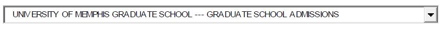 Graduate Admissions Option
