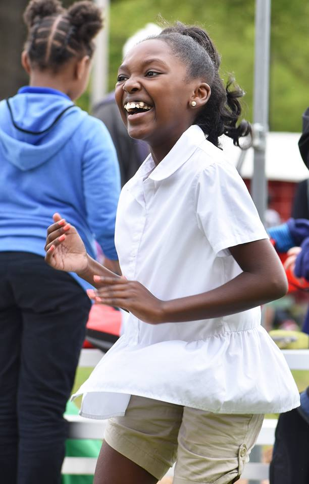 Campus School student dances during Earth Day