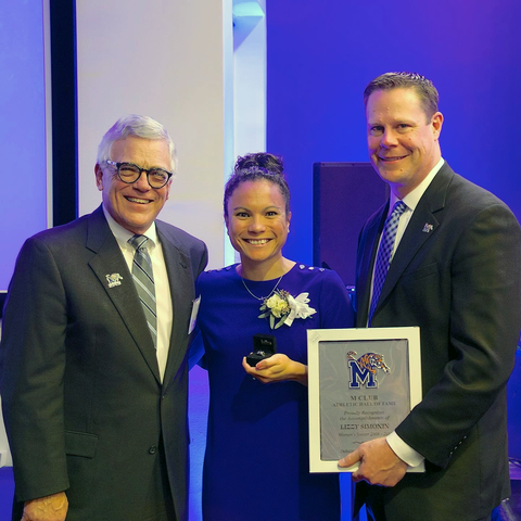 Lizzy Simonin inducted into University of Memphis M Club Hall of Fame