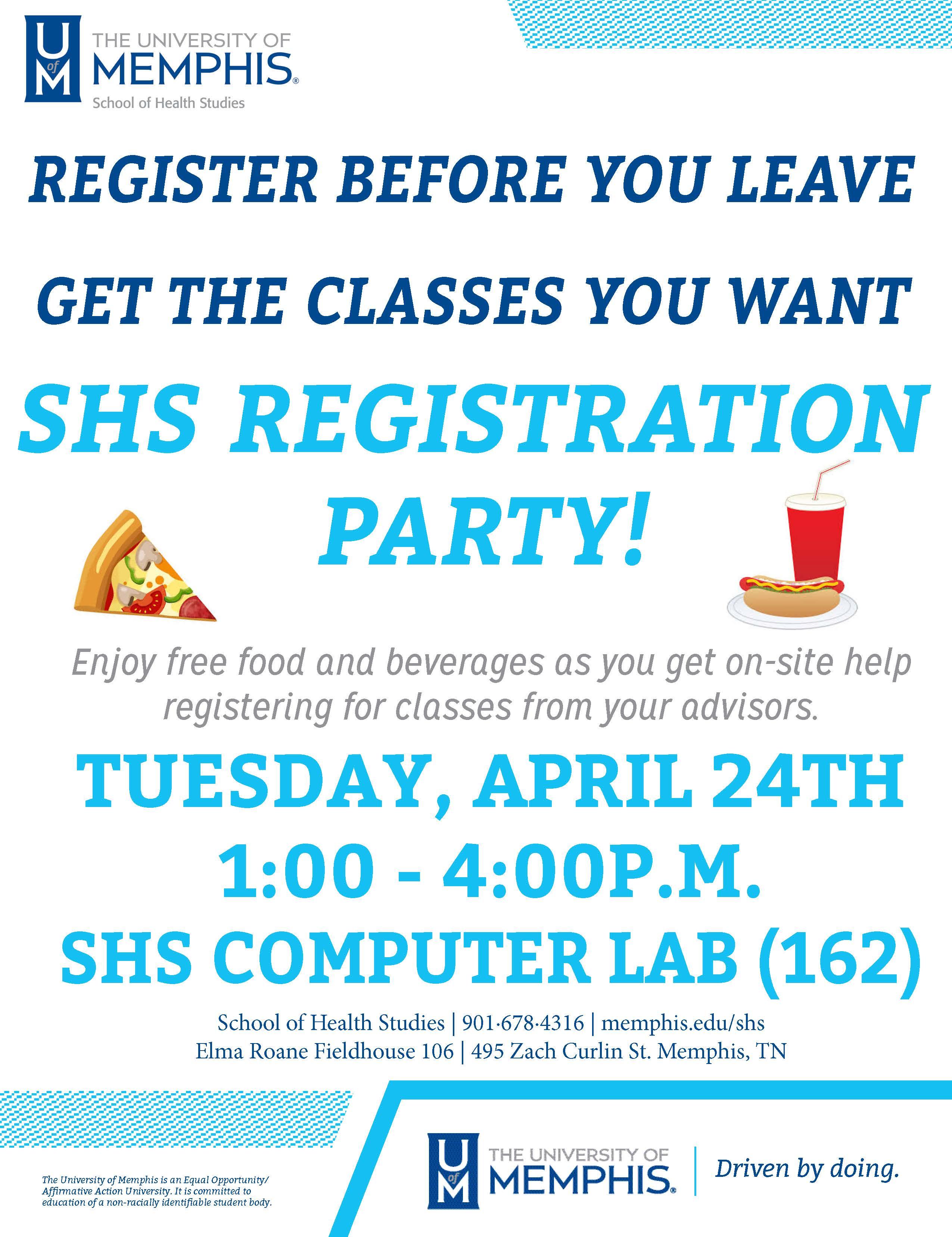 Registration Party Flyer