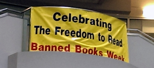 Banner for Banned Books Week