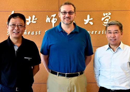 Dean Jang, Dr Peter Brand, professor Li Xiadong
