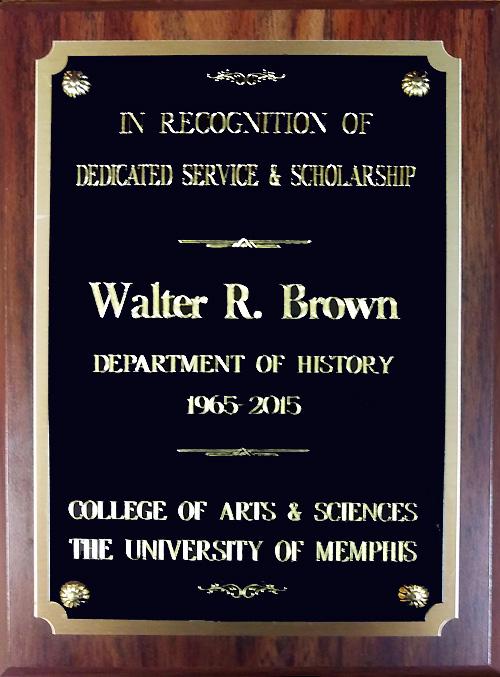 Dr Brown's plaque