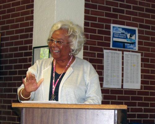 Dr Beverly Bond speaking