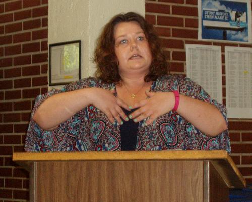 Amber Colvin speaking