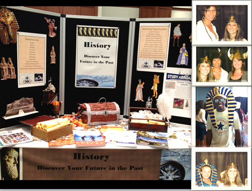 Booth at Discovery Your Major event