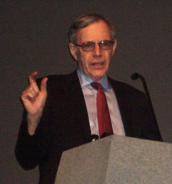 Foner lecturing