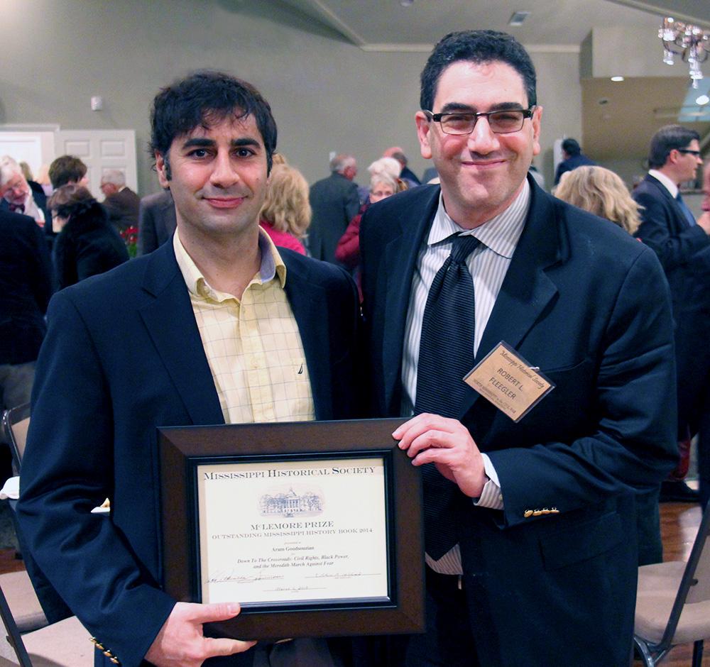 Dr Aram Goudsouzian receiving the McLemore Award