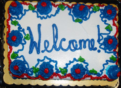 "The ""welcome"" cake"