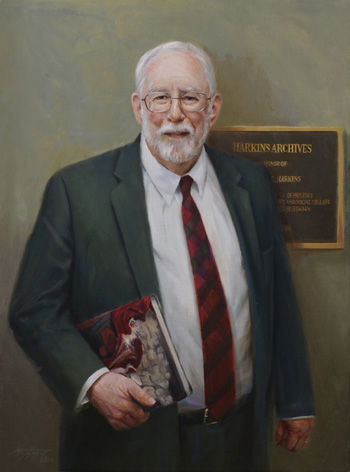 Steve Moppert's portrait of Dr John Harkins