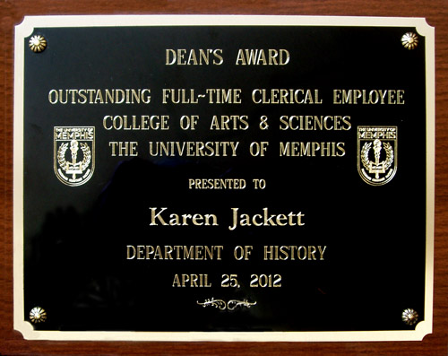 Dean's award to Karen Jackett